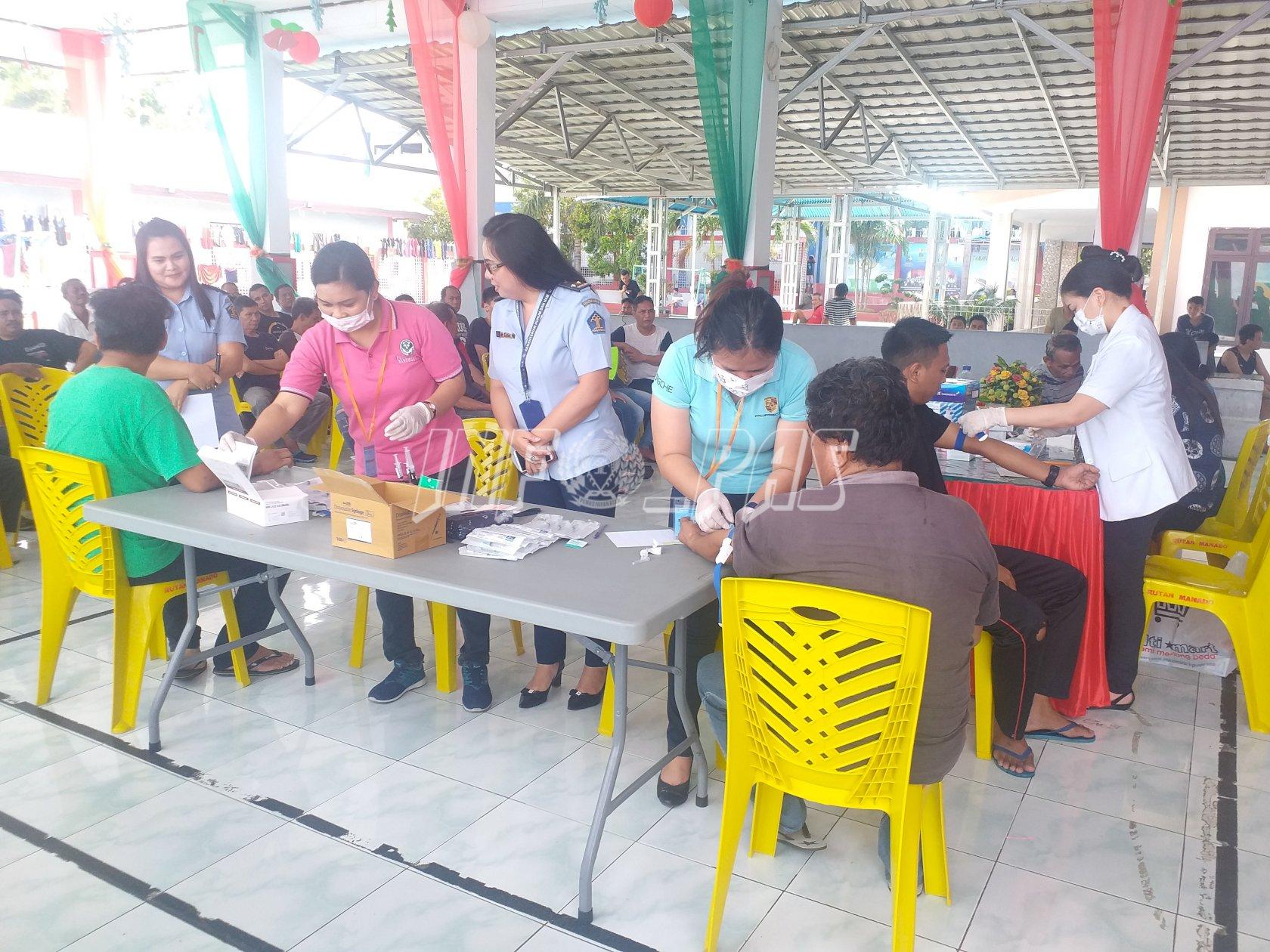 WBP Rutan Manado Jalani Screening HIV & Hepatitis