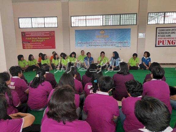 LPP Palangka Raya Kedatangan Wanita Katolik DPC Yesus Gembala Baik