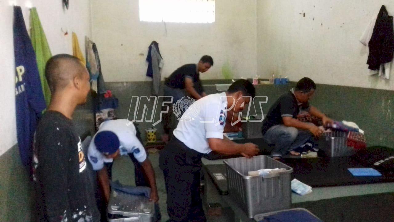 Rutan Bantul Gandeng Pihak Kepolisian Razia Kamar Hunian WBP