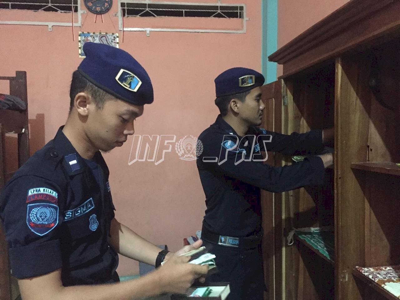 Gelar Razia, Kepala  LPKA Bandar Lampung Tekankan Integritas Petugas