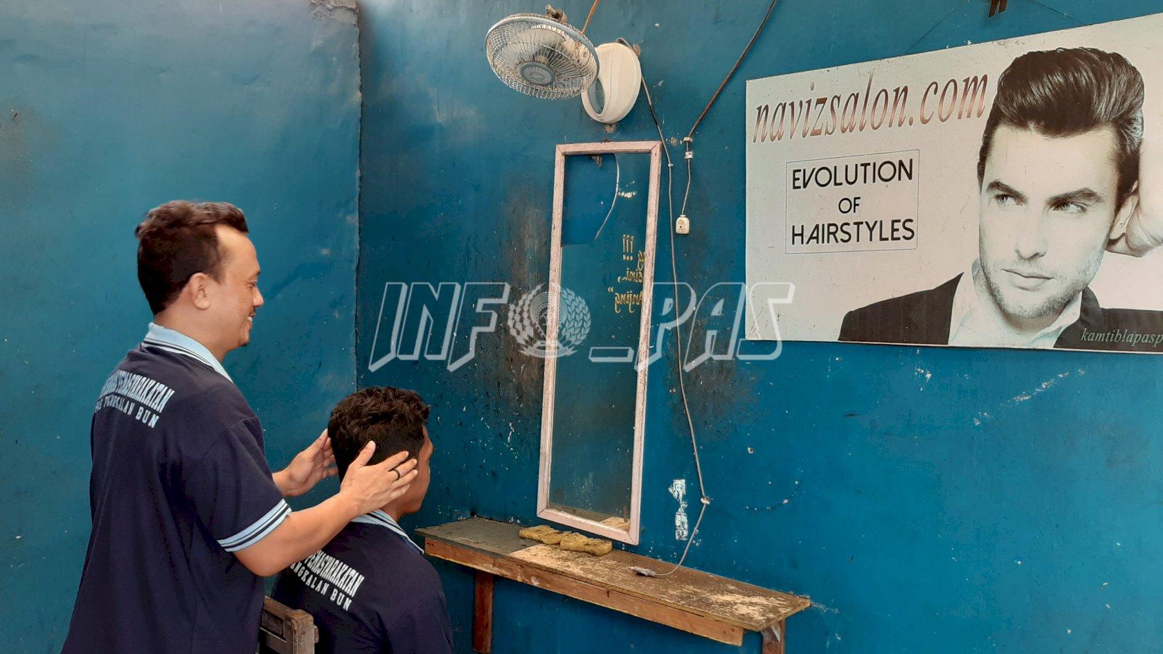 Barbershop Lapas Pangkalan Bun Diminati WBP & Masyarakat