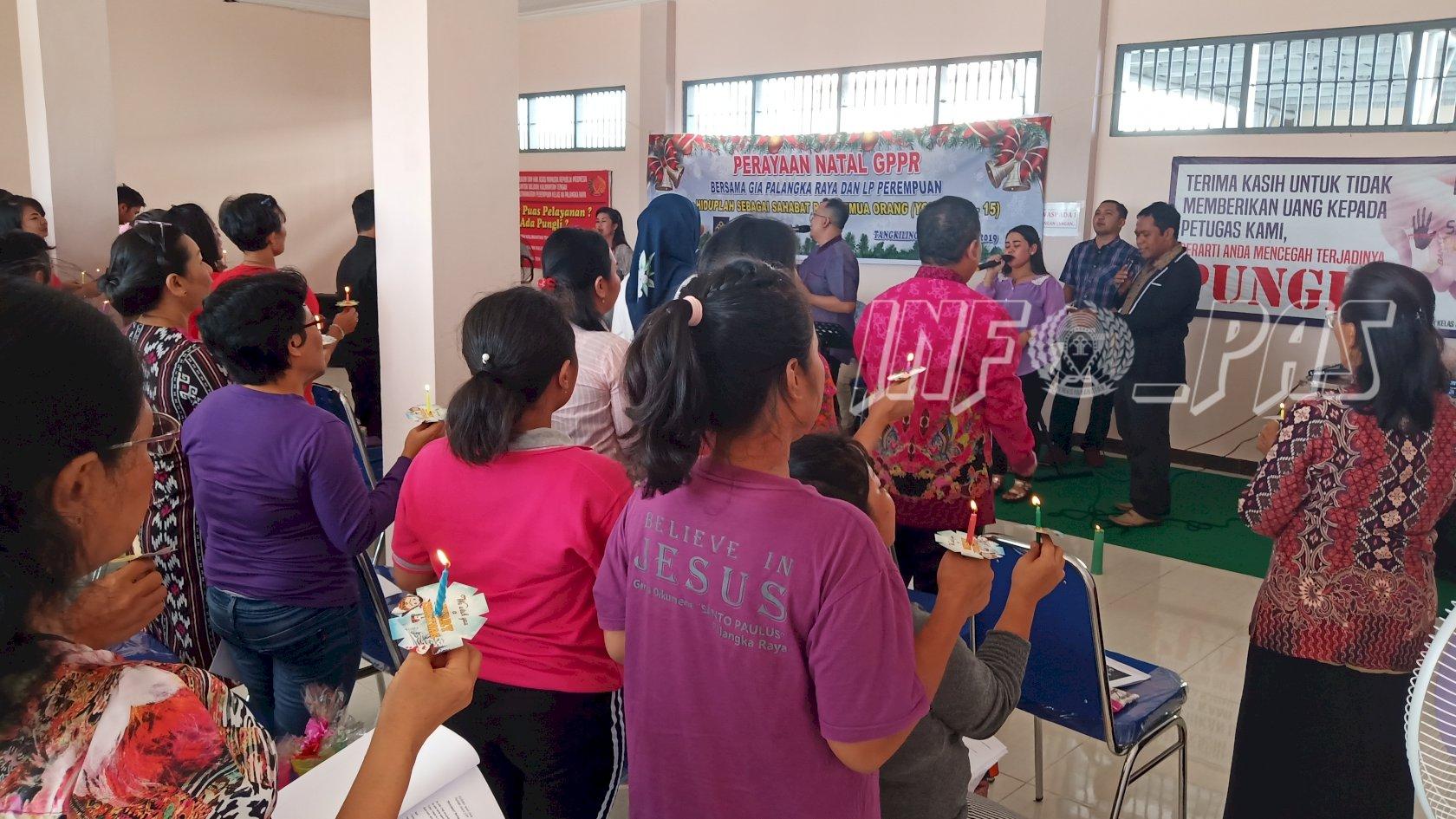 36 WBP Rayakan Natal Bersama di Lapas Perempuan Palangkaraya