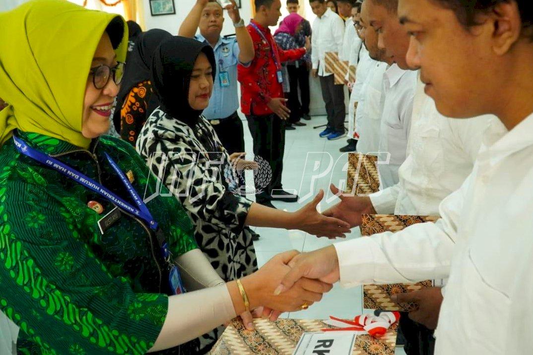Kemenkumham DIY Beri Kado Natal Remisi Bagi 72 WBP