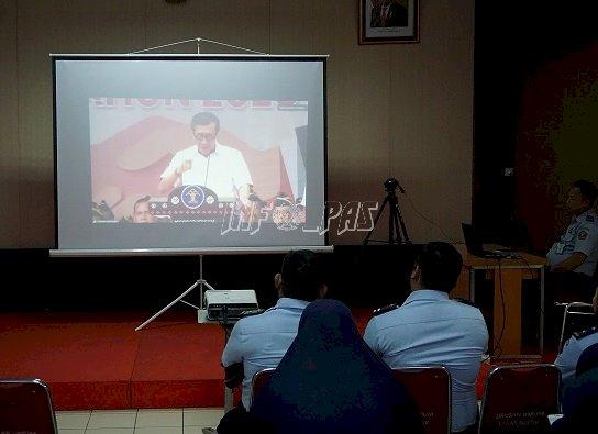 Jajaran LPN Jakarta Ikuti Teleconference Deklarasi Janji Kinerja Tahun 2020