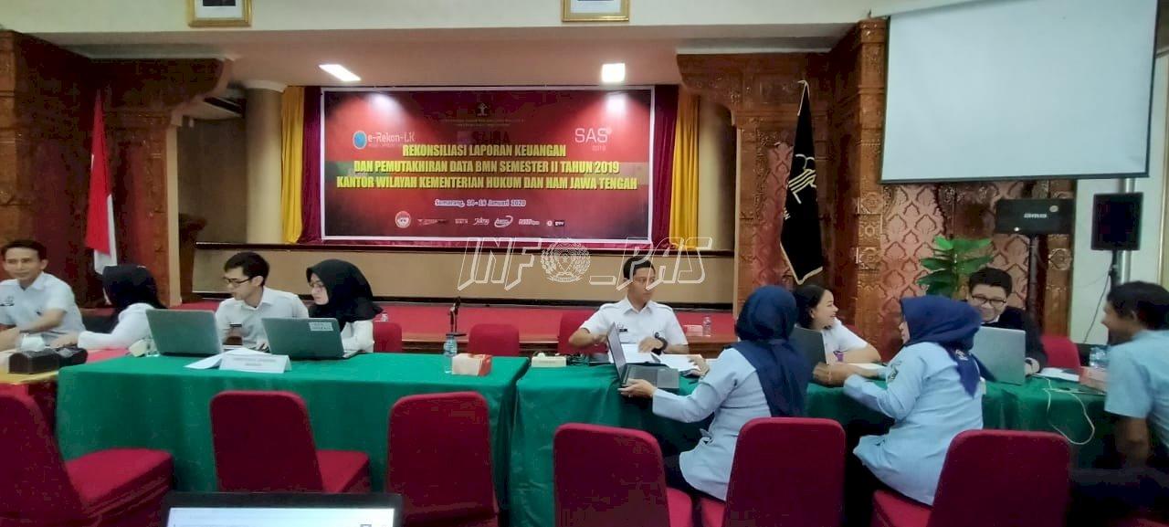 Perwakilan Bapas Pati Ikuti Rekonsiliasi Laporan Keuangan Tahun 2019 Kanwil Jateng