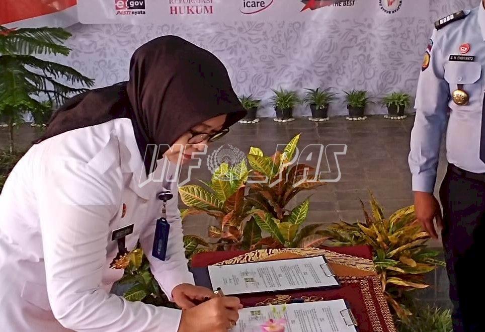 Kadiv PAS DIY Pimpin Deklarasi Janji Kinerja Tahun 2020 UPT Pemasyarakatan se-Wonosari