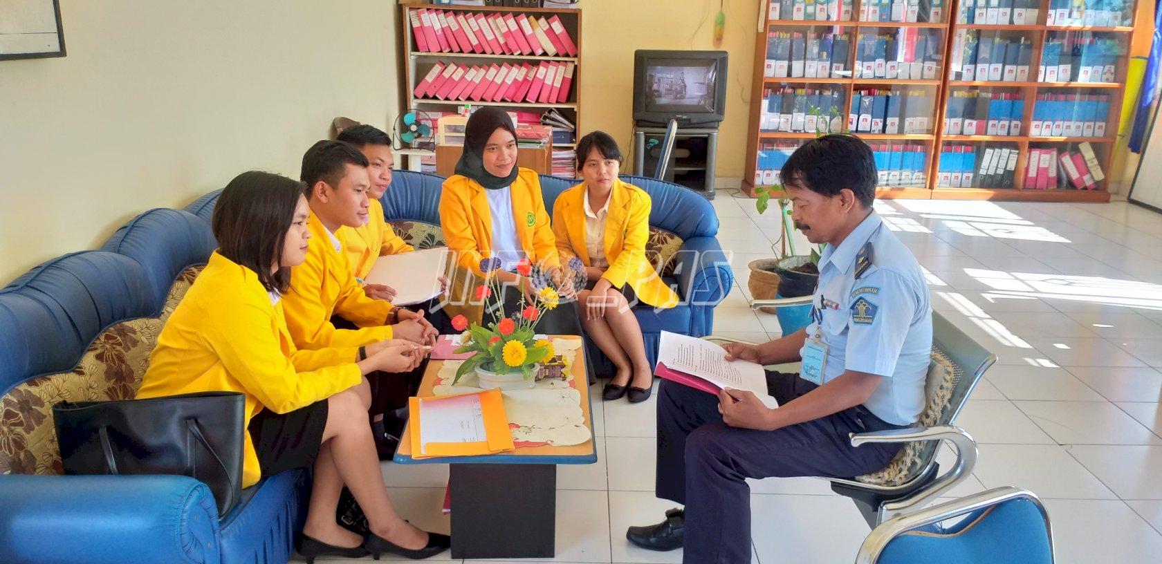 Lapas Palangka Raya Terima KKL 5 Mahasiswa Univ. Palangka Raya