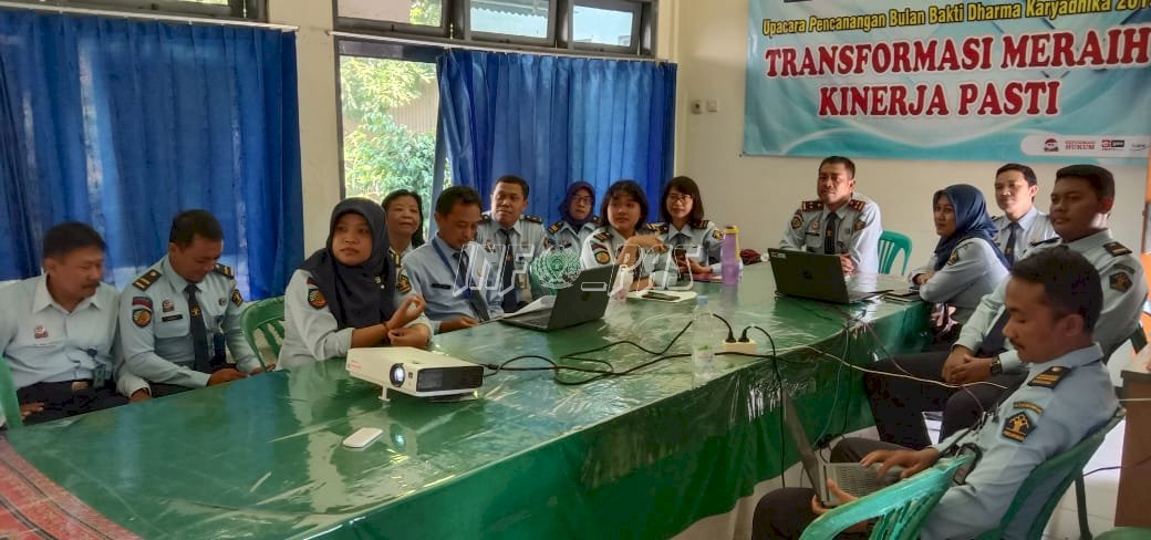 Jajaran Bapas Pati Ikuti Teleconference  Deklarasi Resolusi Pemasyarakatan Tahun 2020 Untuk Bapas & LPKA