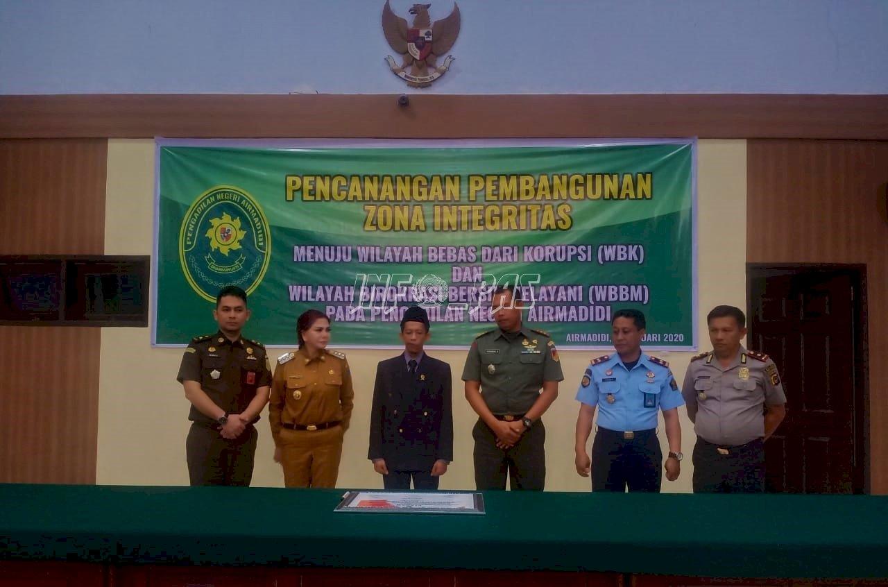Karutan Manado Hadiri Pencanangan ZI PN Airmadidi & Kanwil Kemenkumham Sulut