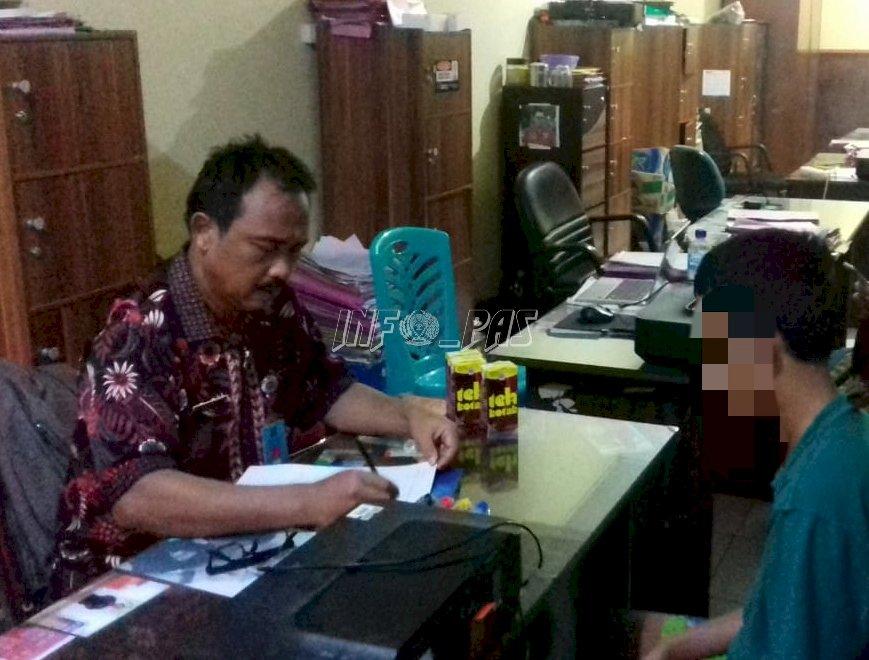Hari Libur, PK Bapas Makassar Tetap Dampingi Klien Anak