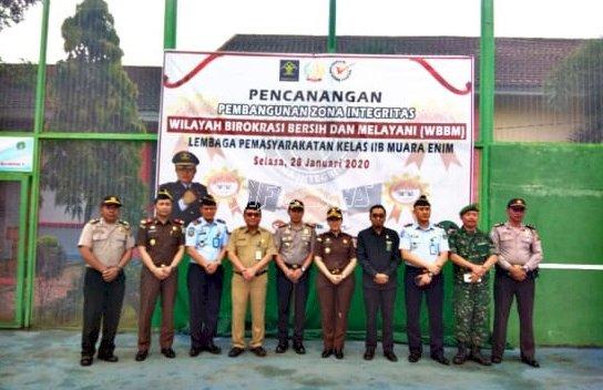 Lapas Muara Enim Deklarasikan Janji Kinerja & Canangkan Pembangunan ZI Menuju WBBM