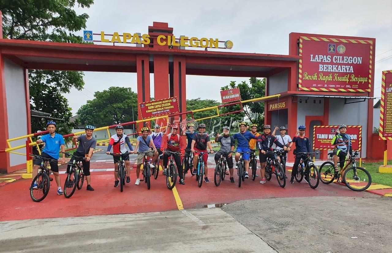 Fun Bike Perkuat Semangat & Kebersamaan Jajaran Lapas Cilegon