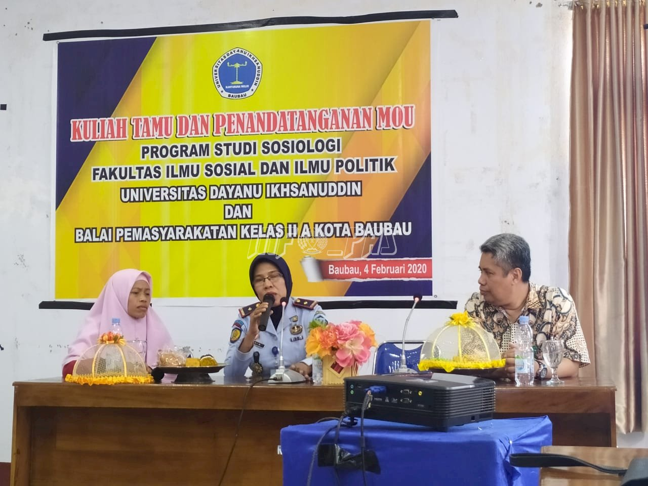 Tim Bapas Baubau Berikan Kuliah Umum di Univ. Dayanu Ikhsanuddin