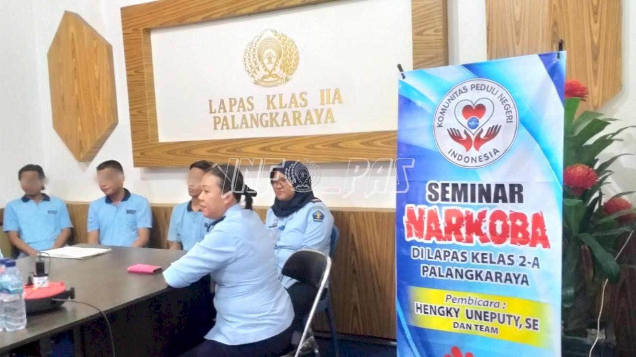 Tingkatkan Semangat Anti Narkoba, Lapas Palangka Raya Gelar Seminar Narkoba bagi WBP