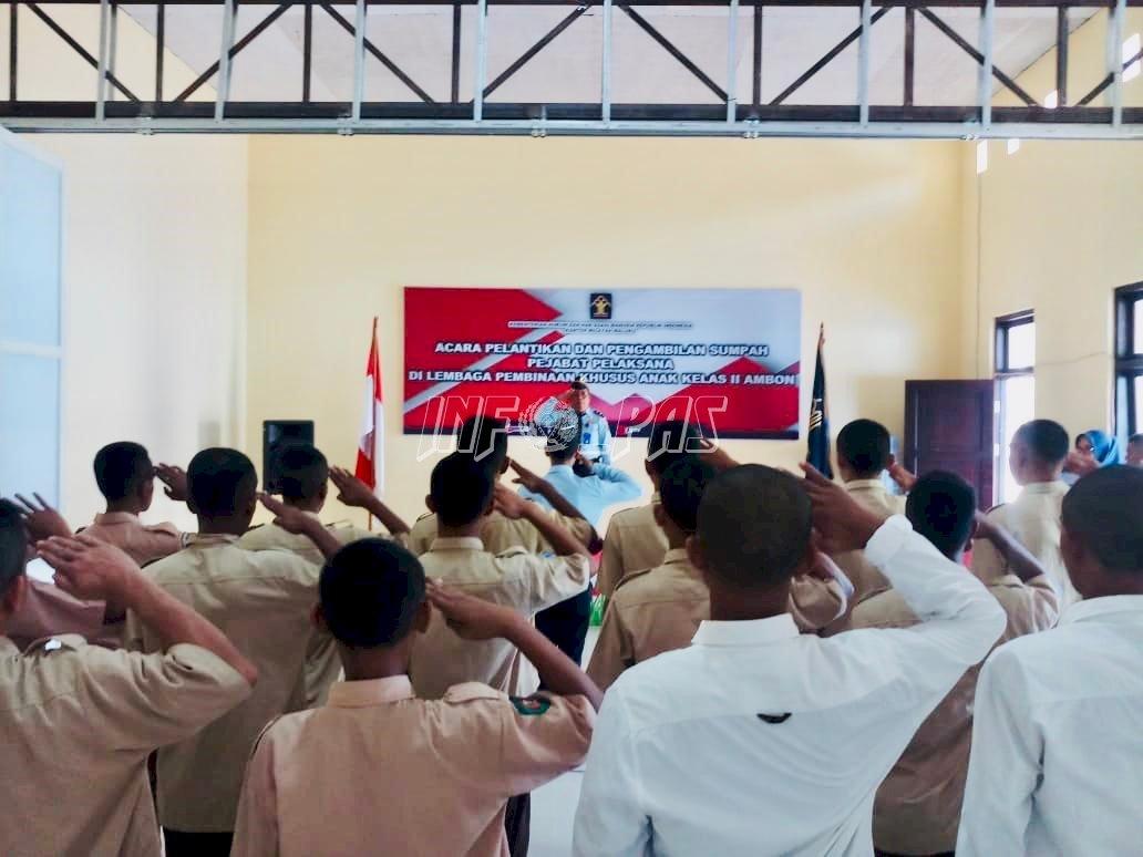 2 Anak LPKA Ambon Terima SK PB Pelaksanaan Crash Program