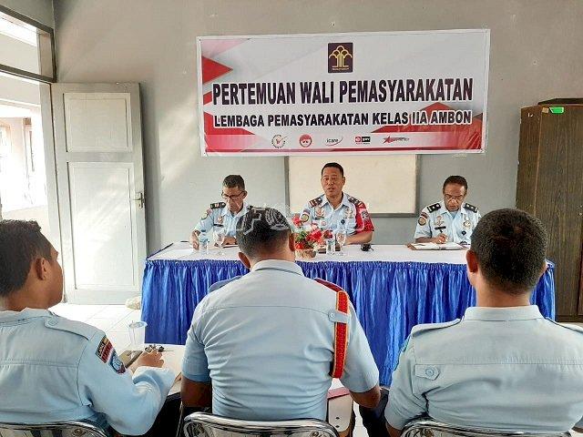 Lapas Ambon Gelar Pertemuan Wali Pemasyarakatan & PK Bapas