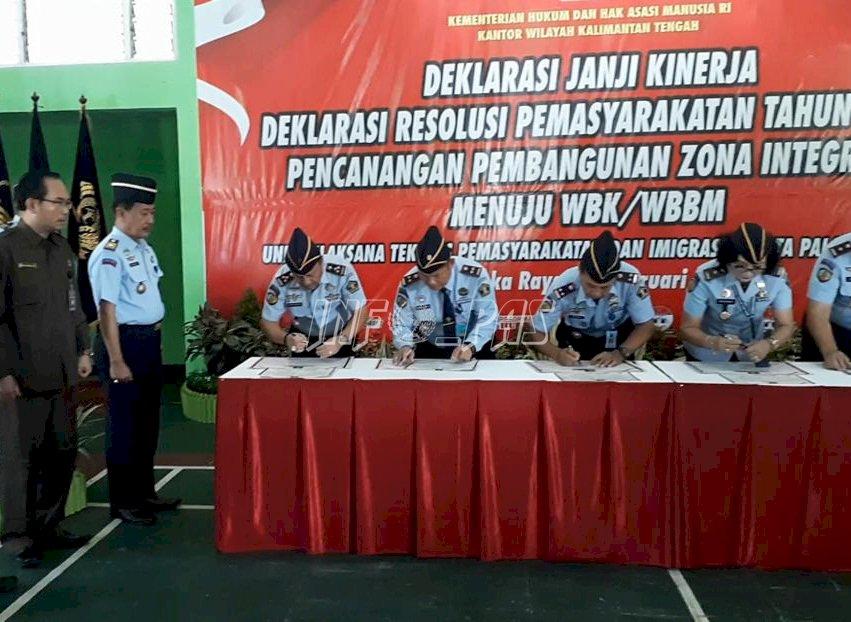 6 UPT Kanwil Kemenkumham Kalteng Siap Wujudkan Wbk/Wbbm