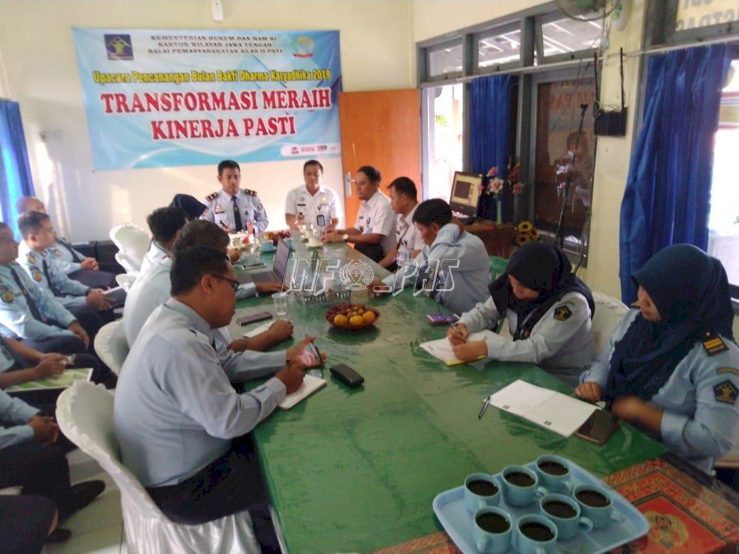 Kabag Program & Humas Kanwil Jateng Lakukan Pendampingan WBK/WBBM di Bapas Pati