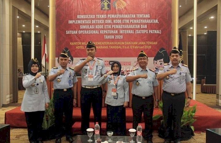 Rutan Batang Dipuji Kadiv PAS Jateng di Depan Peserta Konstek Pengamanan