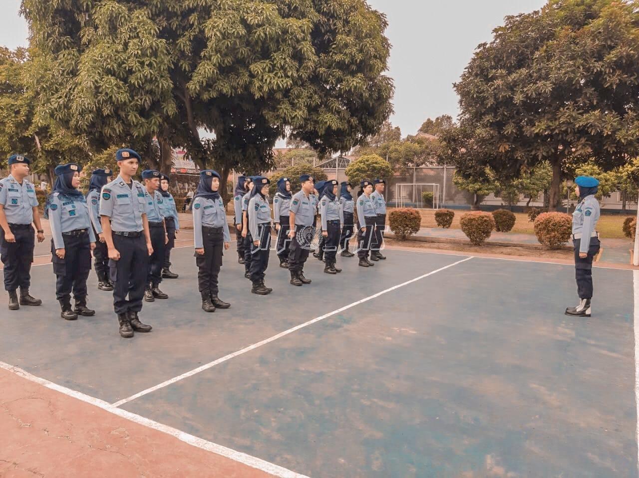 Berbaris-Berbaris Tambah Semangat & Fokus Petugas Lapas Kelas IIA Tangerang