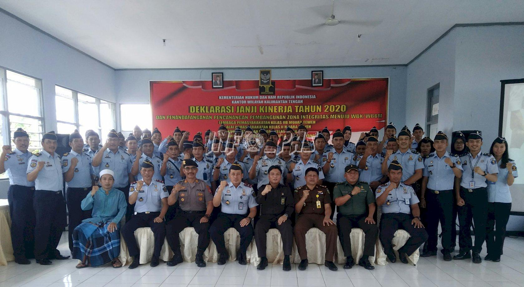 UPT PAS Wilayah Rayon IV Kanwil Kalteng Deklarasikan Janji Kinerja Tahun 2020