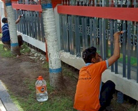 Tingkatkan Pelayanan, Lapas Tuban Genjot Perbaikan Sejumlah Fasilitas