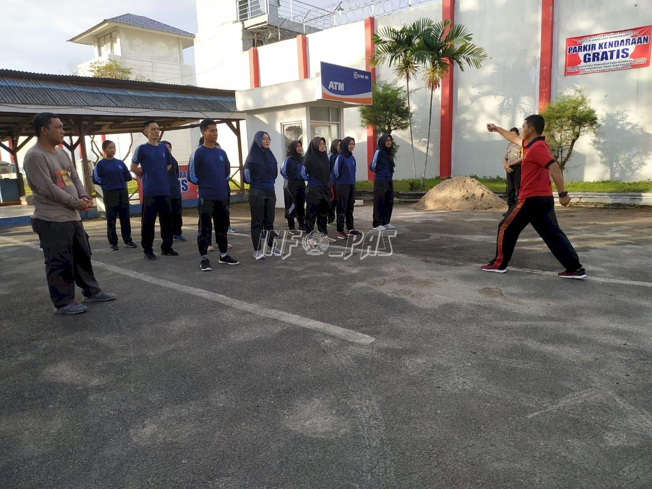 Baris-Berbaris Jaga Fisik & Mental Tunas Pengayoman LPP Bandar Lampung