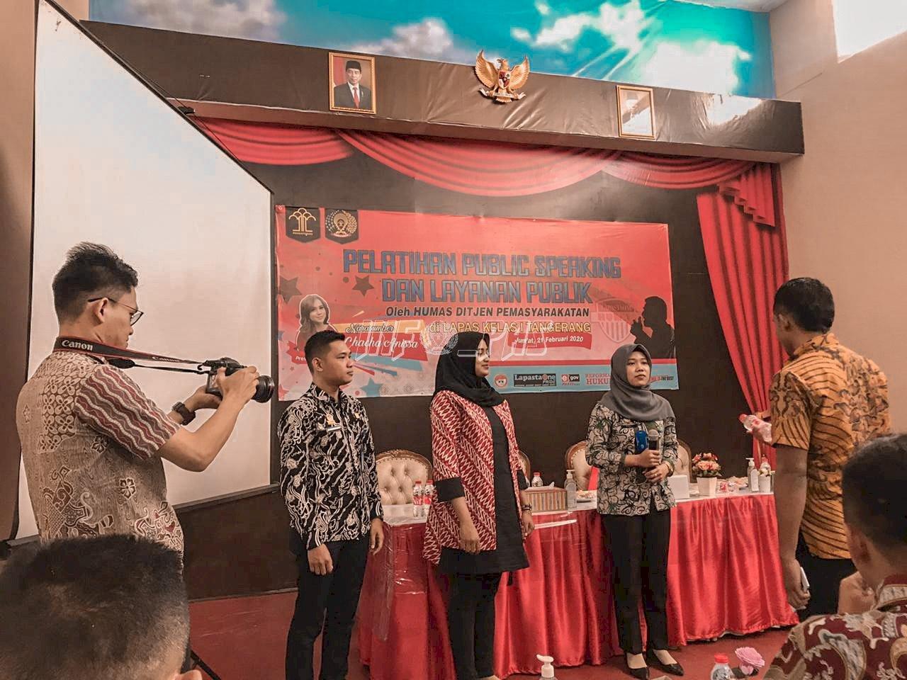 5 Petugas Lapas Kelas IIA Tangerang Ikuti Pelatihan Public Speaking & Layanan Publik