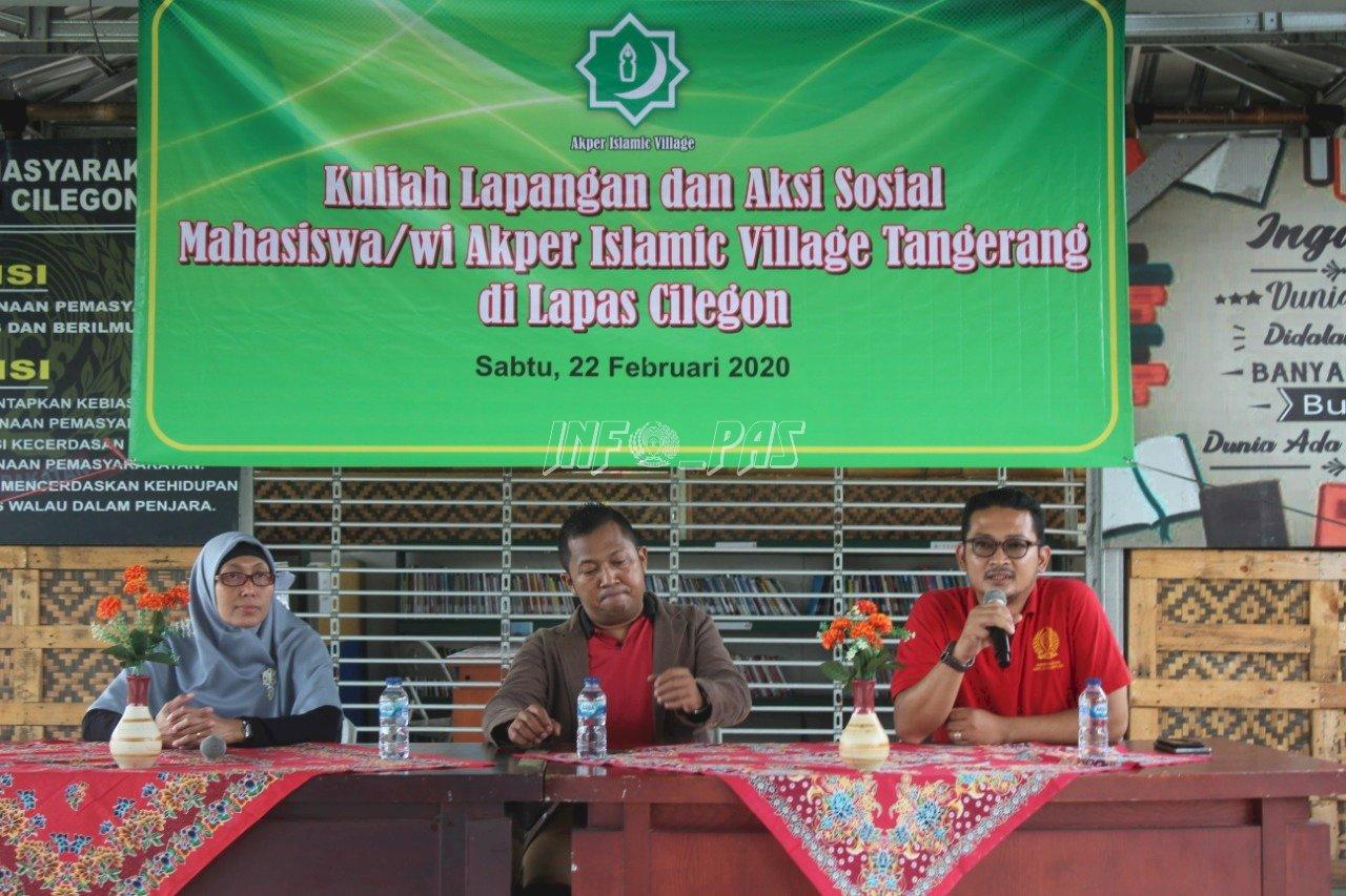 Mahasiswa AKPER Islamic Village Tangerang Antusias Kunjungi Lapas Cilegon