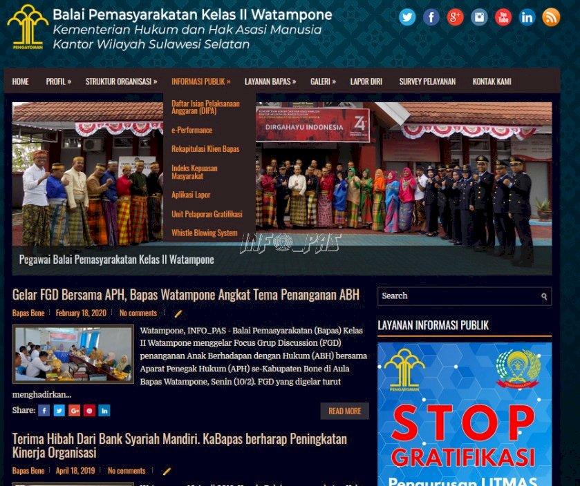 Lewat Website, Bapas Watampone Wujudkan Keterbukaan Informasi Publik