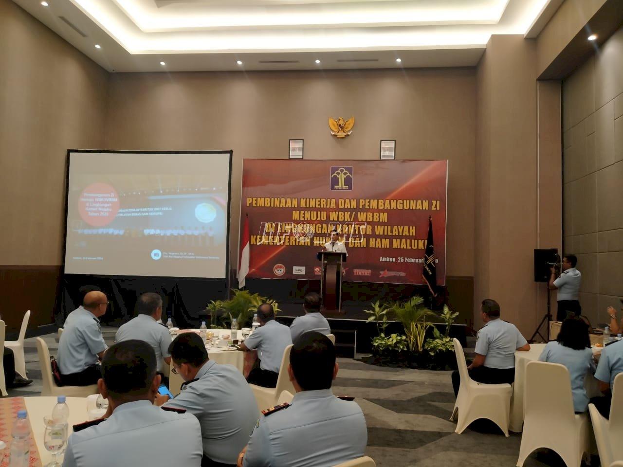 Kejar Predikat WBK/WBBM, Kanwil Maluku Gelar Pembinaan Kinerja & Pembangunan ZI