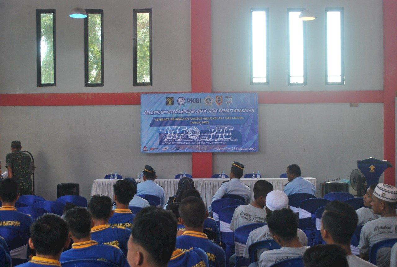 60 Anak LPKA Martapura Ikut Pelatihan Berdasarkan Minat & Bakat