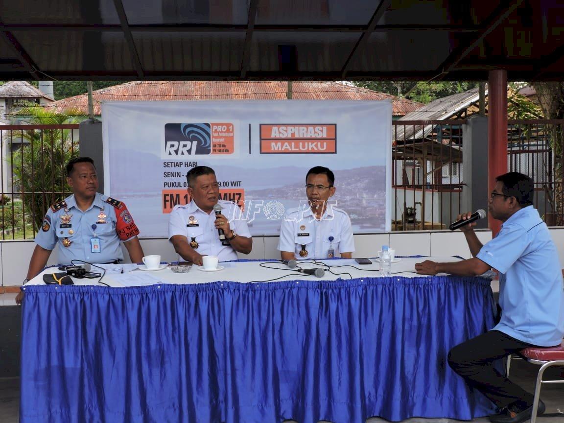 Kalapas Ambon & Kakanwil Maluku Jawab Tantangan & Harapan di On Air RRI Maluku