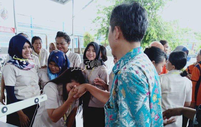 Haru WBP LPP Bandar Lampung Usai Ikuti Pelatihan