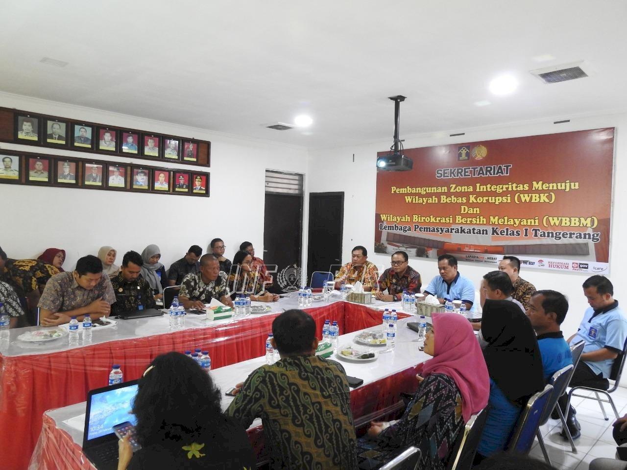 Kadiv PAS Banten Berikan Penguatan ZI WBK/WBBM
