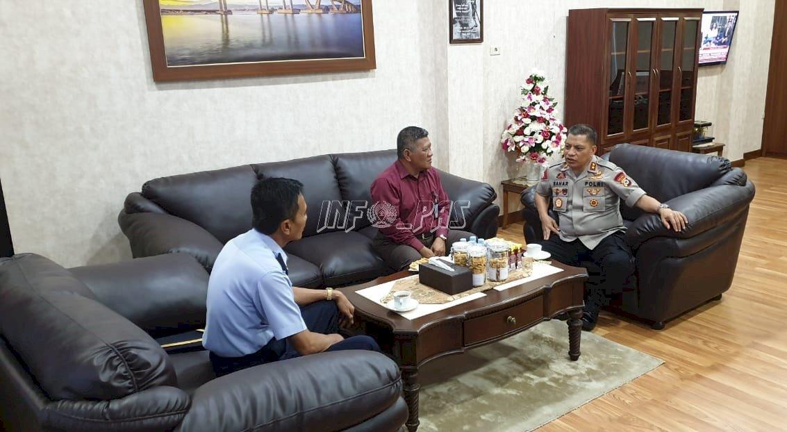 Silaturahmi ke Polda Maluku, Kanwil Maluku Bahas Pengamanan Lapas/Rutan