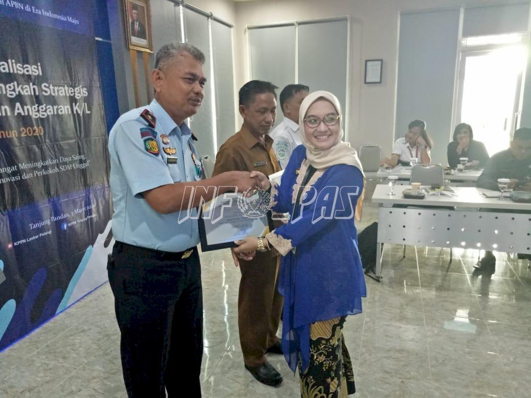 Lapas Tanjungpandan Kembali Terima Penghargaan dari KPPN