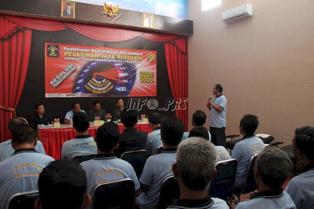Rampungkan Pelatihan Refleksi, WBP Lapas Tangerang Raih Sertifikat