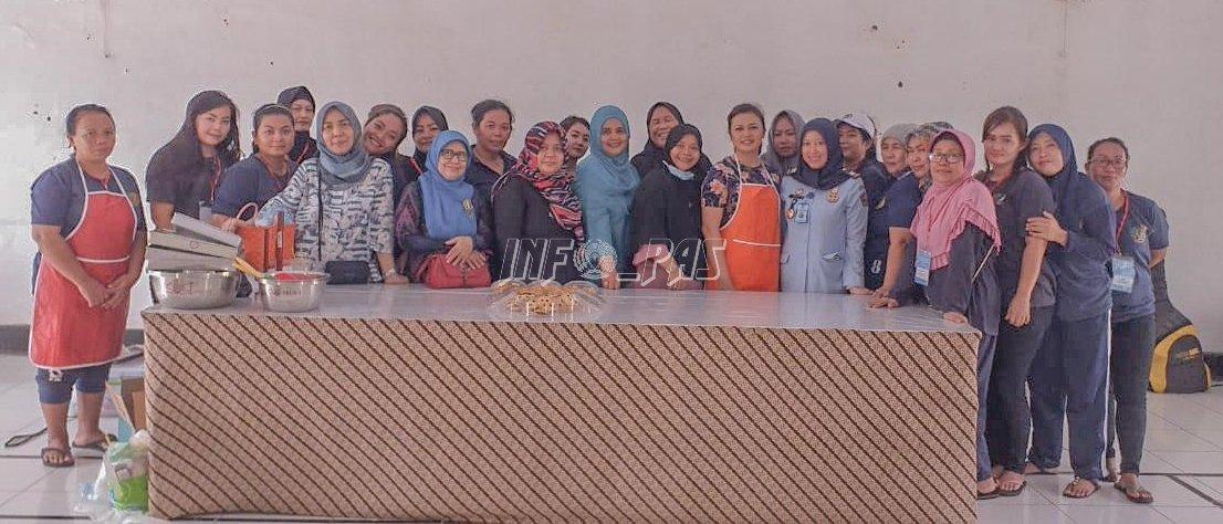 WBP Lapas Kelas IIA Tangerang Belajar Membuat Kue Bersama LPK Tania Jaya