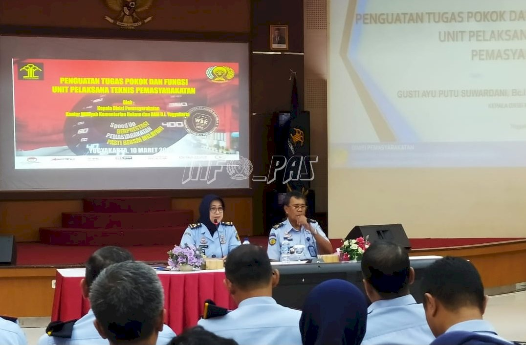 JFT PK Bapas Yogyakarta Hadiri Penguatan Tusi oleh Kadiv PAS