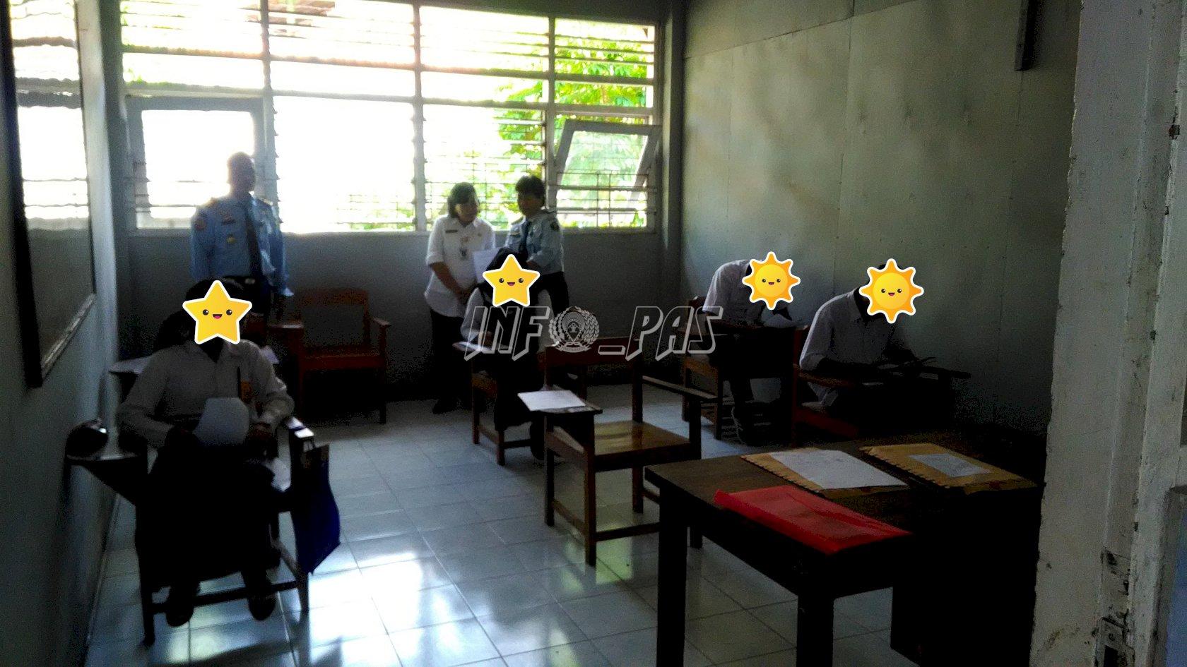 Anak LPKA Kutoarjo Ujian Paket C, Ini Pesan Disdikpora Kab. Purworejo