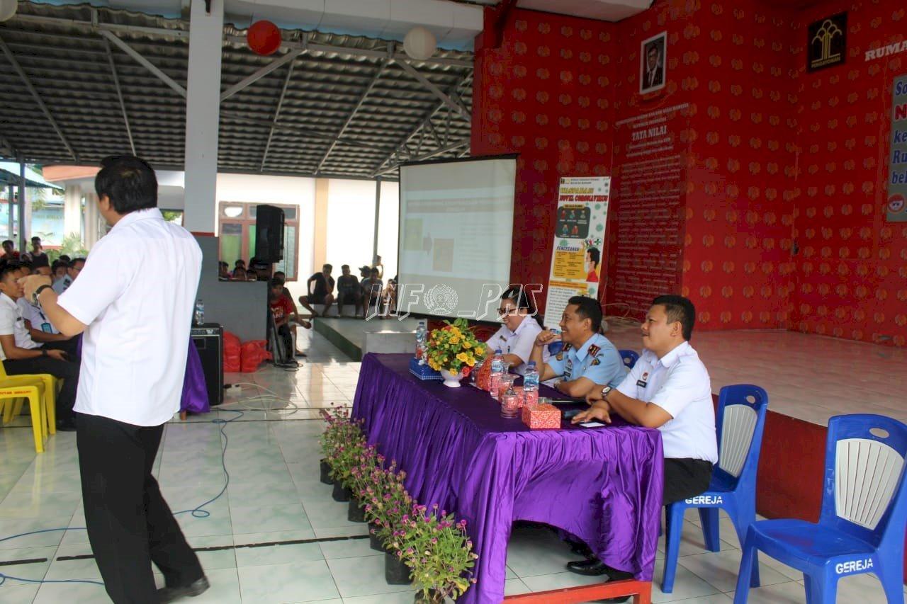 Petugas & WBP Rutan Manado Dapat Bekal Pencegahan Virus Corona