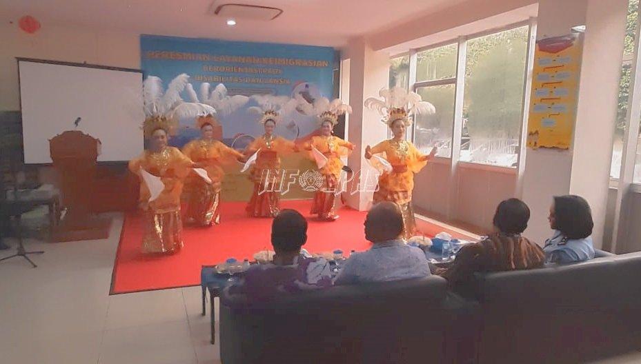 WBP Lapas Kelas IIA Tangerang Suguhkan Tarian Nusantara di Kanim Tangerang