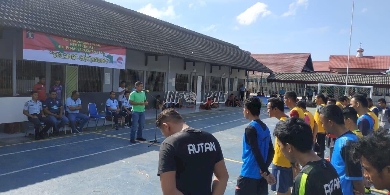 Rutan Futsal League 2020 Dimulai, WBP Rutan Balikpapan Sumringah