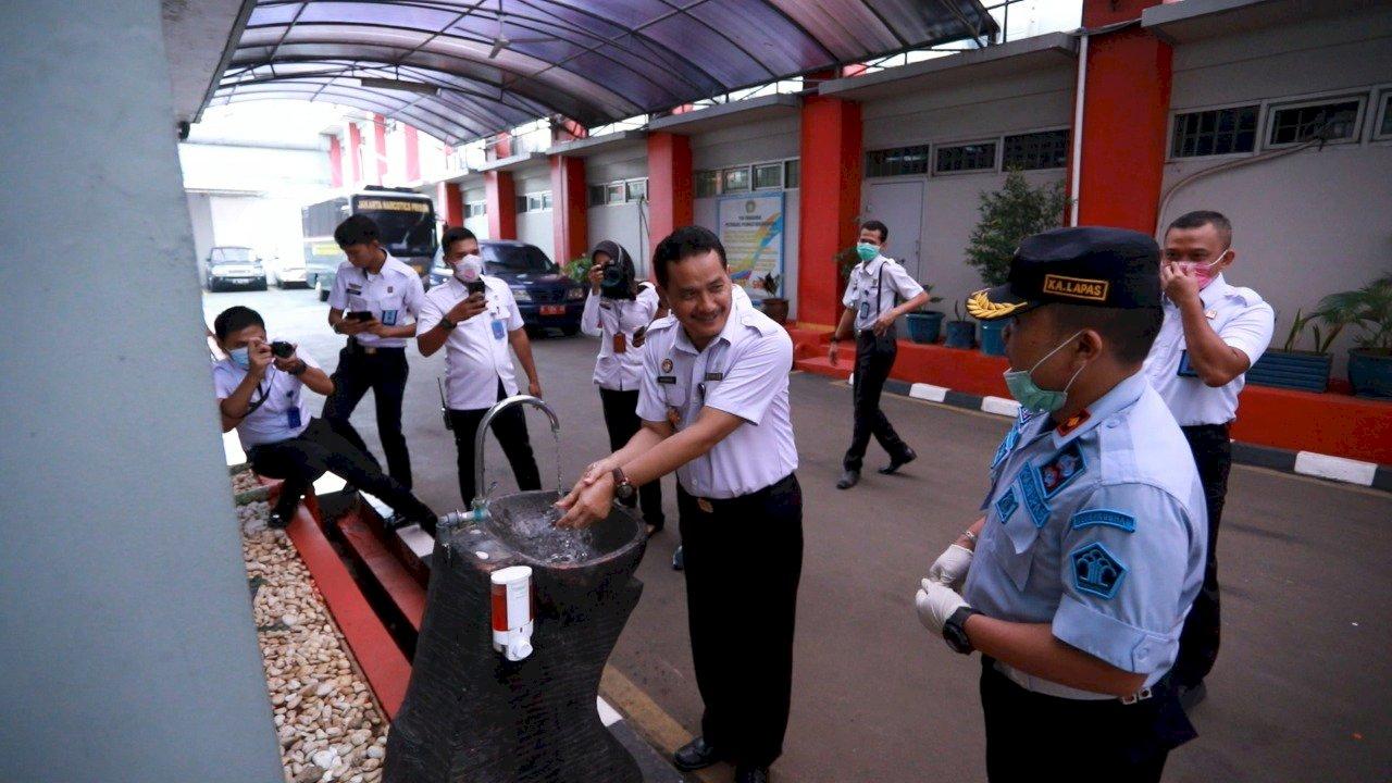 UPT Pemasyarakatan DKI Jakarta Siaga Covid-19, Dari Cuci Tangan Hingga Kunjungan Video Call