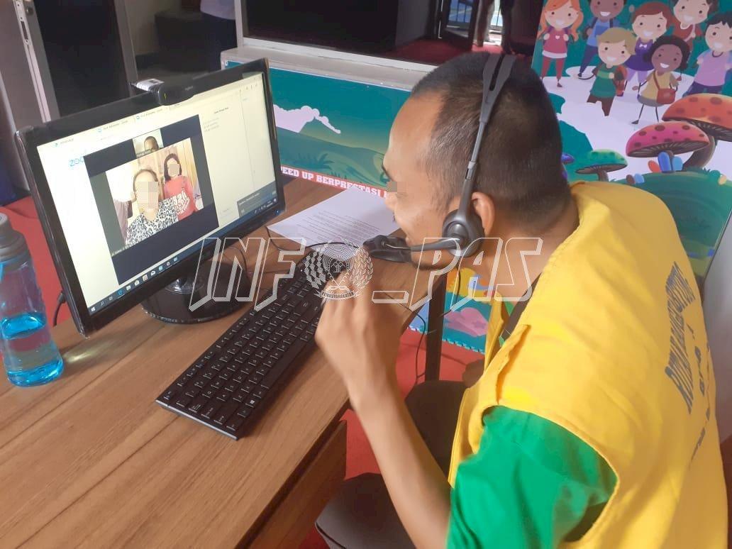 WBP Lapas Rangkasbitung Kini Bisa Video Call dengan Keluarga