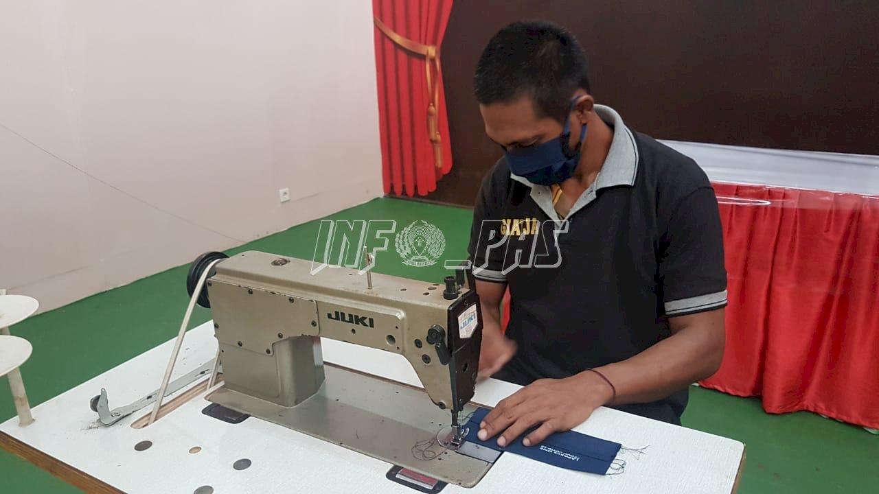 Masker Langka, WBP Lapas Tangerang Produksi Masker