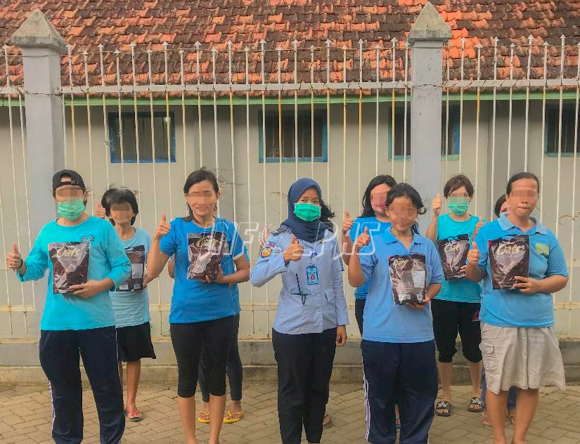 Lapas Kelas IIA Tangerang Dapat Bingkisan dari Yayasan Mahanaim