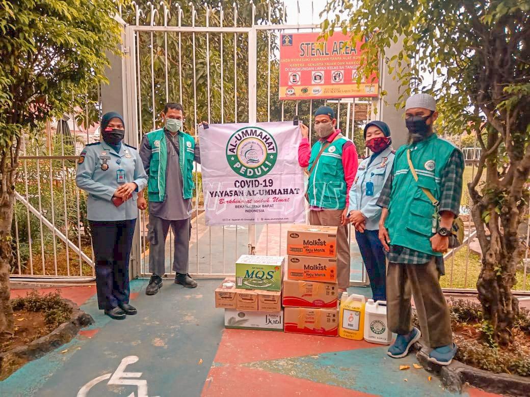 Lapas Kelas IIA Tangerang Terima Donasi Tanggap COVID-19 Yayasan Al-Ummahat