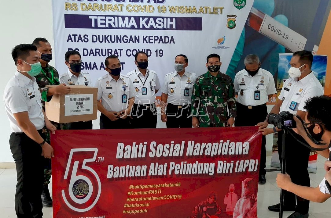 Narapidana se-Indonesia Sumbang APD untuk Tenaga Medis Penanganan COVID-19